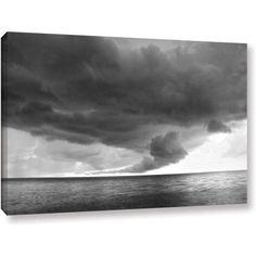 ArtWall Dan Wilson Lake Erie Storm  Gallery-Wrapped Canvas, Size: 24 x 36, White