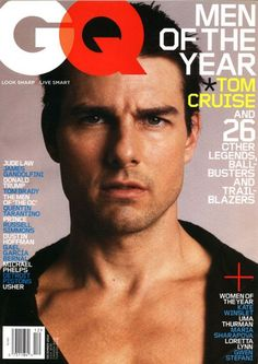 The GQ of the featuring Tom Brady, Leonardo DiCaprio, Kanye West, Jennifer Aniston, and Barack Obama. Katie Holmes, Tom Cruise, Gq Magazine Covers, Kelly Emberg, Russell Simmons, Kristin Davis, Catherine Mcneil, Star Wars, Richard Gere