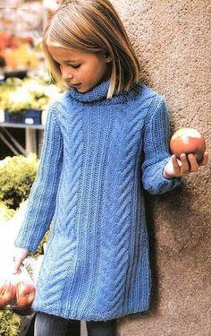 Фотография Knitting For Kids, Baby Knitting, Crochet Baby, Knit Crochet, Knit Baby Dress, Angel Dress, Baby Girl Dresses, Lana, Knitting Patterns