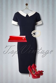 This look is super feminine, elegant, chic and has just that perfect touch of red