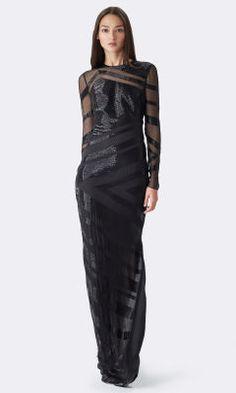 Alana Beaded Silk Gown