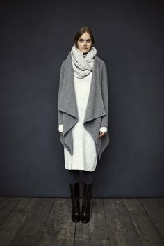 DECEMBER - LOOK 15    EMMA SCARF BRILEY SWEATER DRESS DELPHINE SWEATER ELYCIA BOOT