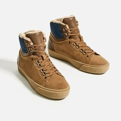 HIGH-TOP SNEAKERS WITH LINING from Zara