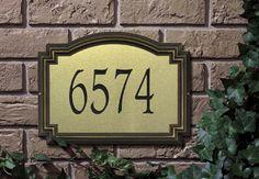 Williamsburg Artisan Metal Address Plaque / Standard Size