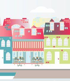 Copenhague ilustraciones laminas a4 láminas por Ilustracionymas
