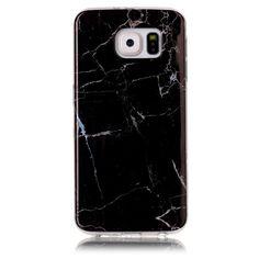 Coque Samsung Galaxy S6 Imprimé Marbre - Noir