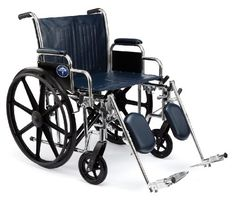 Medline Excel ExtraWide Wheelchair 24 Wide Seat DeskLength Removable Arms Elevating Legrests Chrome Frame * Click the VISIT button to find out more