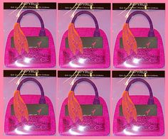 6 Papyrus Gift Card Holders NIP 5352327 Pink Felt Purse Purple Handle 12020615 #Papyrus #AnyOccasion