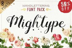Mightype FontPack Handlettering by AF Studio on @creativemarket