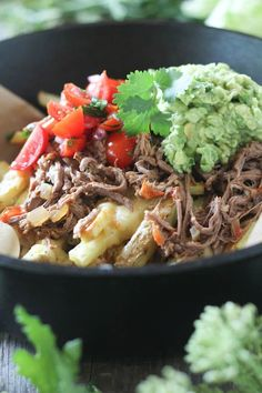 #paleo #paleomg Crockpot Carne Asada Loaded Fries