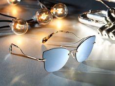 Unexpected shapes, fine lines and a new take on Miu Miu double bridge sunglasses. Cat Eye Sunglasses, Mirrored Sunglasses, Sunglasses Women, Dope Fashion, Fashion Trends, Sunglass Hut, Manolo Blahnik, Miu Miu, Catwalk