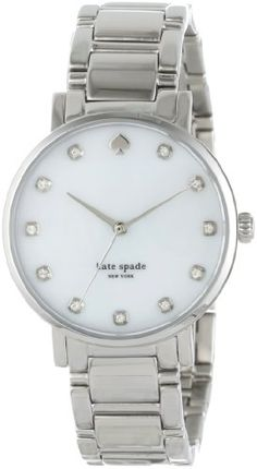 Women's Wrist Watches - kate spade new york Womens 1YRU0006 Gramercy SilverTone CrystalAccented Watch with Link Bracelet >>> Check out this great product. (This is an Amazon affiliate link)