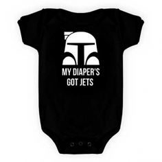 MC CHRIS needs to get it in gear, these onesies have been out of stock for months!  I can't wait until they start selling them again. Pass the word maybe someone else knows him and can make this happen for me and my little boba fett.