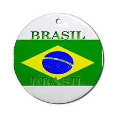 Brasil Flag Christmas Ornament Round Brazil Round Ornament by CafePress. Brasil Flag clothing, items Give a gift to celebrate Brazilian heritage. Show your Brasil colors or show your Brazilian pride with the Brasil Flag proudly displayed at home or football soccer match. Brazil Round Ornament Instantly accessorize bare wall-space with our Round Ornament. Makes great room or office accessories, fun favors for birthday parties, wedding or baby shower Ornaments, or adding a unique, special…