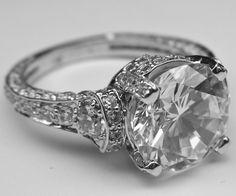Vintage Looking Engagement Rings | vintage engagement rings by Heidi-Vogel