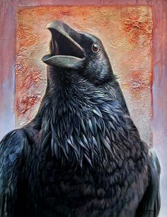 Hans Droog artwork Raven for sale and offering more original artworks in Painting medium and Wildlife theme. Contemporary artist website Contemporary Painter, Artist from Hermann Missouri United States. Crow Art, Raven Art, Bird Art, Raven Totem, Tattoo Bauch, Quoth The Raven, Creation Photo, Jackdaw, Canvas Art