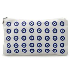 Evil eye pattern cosmetic pouch by DeadlyDesignerStore on Etsy