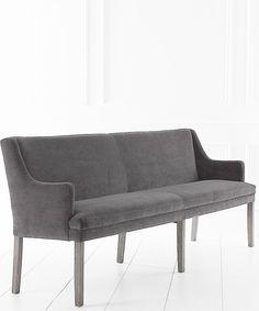 Upholstered Dining Bench   Shallow Buttoned, Matt Velvet   6 Lengths