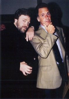John Perry Barlow and Bob Weir at the ACLU Awards 1998 John Perry Barlow, Dead Pictures, Bob Weir, Equal Rights, Grateful Dead, Good Ol, Musicians, Muse, Awards