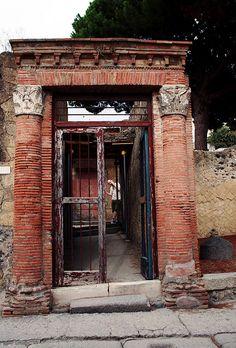 The Entrance to the Casa del Grande Portale in Herculaneum