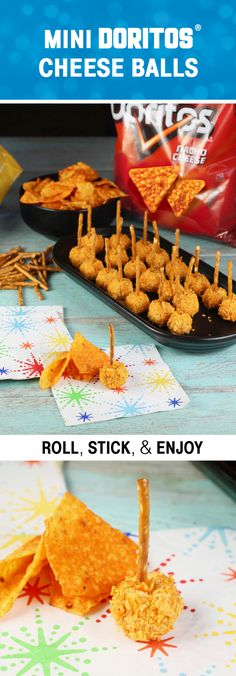 Sponsored by Frito-Lay | Can you really say yes to summer without delicious snacks? We don't think so—that's why these Mini Doritos Cheese Balls with Rold Gold Pretzels Sticks are a must for any occasion this summer. Cheesy, creamy, and full of nacho flavor, this bite-sized appetizer recipe will be a hit with potluck, picnic, and outdoor party guests alike. And by bringing Frito-Lay products along to your get-togethers this summer, you can really round out an awesome entertaining menu.
