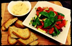 Hummus & Tomato Salad