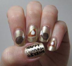 Nerdy for Nails: Turkey Legs & Pumpkin Pie Nails