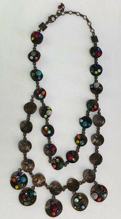 Konplott doppelte Halskette mit vielen bunten Steinen Bunt, Ebay, Jewelry, Neck Chain, Jewellery Making, Jewerly, Jewelery, Jewels, Jewlery