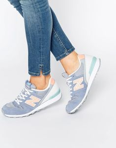 Image 1 - New Balance - 996 - Baskets en daim - Gris et rose