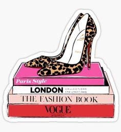 Preppy Stickers, Cute Stickers, Fashion Heels, Paris Fashion, Printable Stickers, Planner Stickers, Tumblr Stickers, Retro Aesthetic, Aesthetic Stickers