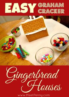 How to make easy graham cracker gingerbread houses.