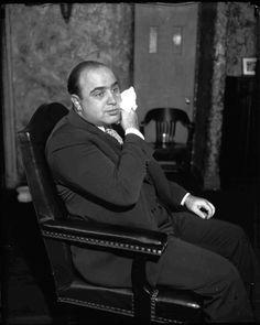 Al Capone in court, October 1931. (Chicago Tribune historical photo)