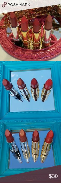 Elizabeth Arden lipstick collection Elizabeth Arden lipstick collection # 17 Desert Rose, #32 Rosy Shimmer, # Coral and  # Melon.  PRICE IS FIRM  .THANK YOU Elizabeth Arden Makeup Lipstick