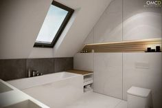 attic bathroom staircases #atticbathroomhouse #finishedatticbathroom #atticbathroomkids Small Bathroom Layout, Modern Bathroom Design, Bathroom Interior Design, Loft Bathroom, Bathroom Plans, Small House Design, Design Case, House Rooms, Bathroom Inspiration