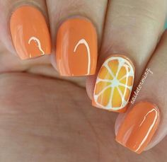 Light Orange Nail Designs to support your own beauty. Discover top 40 awesome and beautiful orange nail designs for girls! Nail Art Designs, Fruit Nail Designs, Orange Nail Designs, Nagellack Design, Nagellack Trends, Cute Acrylic Nails, Cute Nails, Nail Manicure, Diy Nails