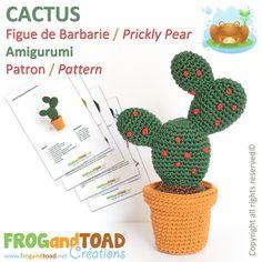 Amigurumi CACTUS par FROGandTOAD Créations © #Amigurumi #Crochet #Patron #Pattern #Cactus #Plant