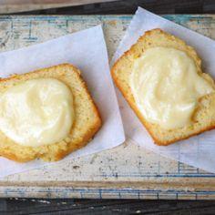 honey butter spread on lemon cake