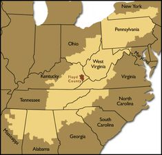 Appalachian Mountains map- The Rag Coat or Down Down the Mountain ...