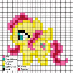 Perler Mania: My Little Ponies, Friendship is Magic: Fluttershy