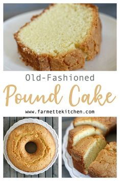 This Old Fashioned Pound Cake recipe is one my mother made often throughout my childhood. Dense and buttery, this traditional pound cake is the perfect blank canvas for a fruit glaze or whipped topping. Cake Old-Fashioned Pound Cake Recipe Homemade Pound Cake, Easy Pound Cake, Buttermilk Pound Cake, Pound Cake Recipes, Easy Cake Recipes, Homemade Cakes, Baking Recipes, Best Pound Cake Recipe Ever, Sweets