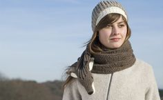 foxy scarf with fisherman's rib in brown. €79.00, via Etsy.