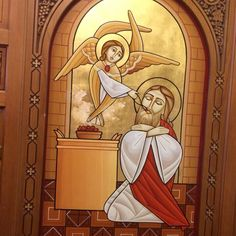 #Coptic #Icon #Isaac