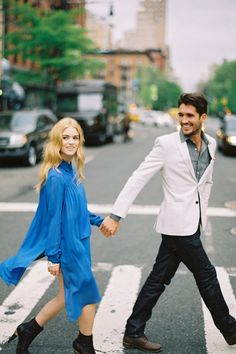 #blue via billy reid    #engagement #nyc