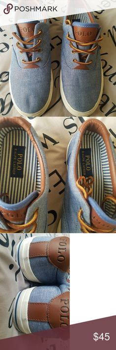 Ralph Lauren polo casual shoes 9.5 Only worn once.  Excellent condition.  Few black marks on the bottom back (see pic/it will wipe right off). Purchased these from the Polo store about a year ago. Polo by Ralph Lauren Shoes