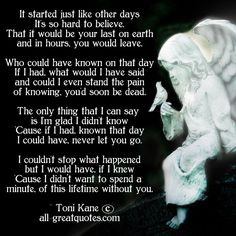 In Loving Memory Poems | In Loving Memory Poems – It started just like other days, It's so ...