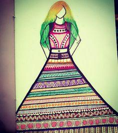 #doodleart #ladyinskirt #12