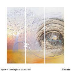 Spirit of the elephant triptych