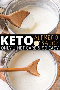 Keto Sauces, Low Carb Sauces, Low Carb Recipes, Keto Alfredo Sauce, Keto Meal Plan, Foods To Eat, Keto Dinner, Low Carb Keto, Paleo Coffee Creamer