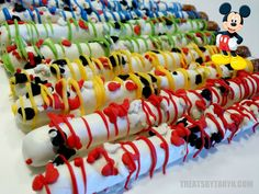 MICKEY Clubhouse chocolate covered pretzels by TreatsByTaryn Mickey Mouse Bday, Mickey Mouse Clubhouse Birthday Party, Mickey Party, Mickey Mouse Birthday, 3rd Birthday Parties, Birthday Fun, Birthday Ideas, Chocolate Covered Pretzels, Dipped Pretzels
