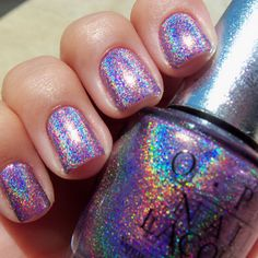 rainbow sparkle nails. Want.
